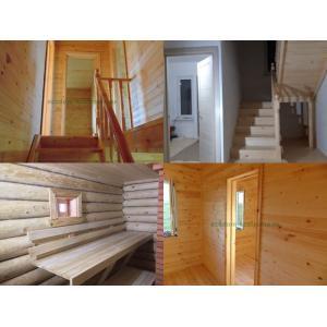 Внутренняя отделка домов из бруса и бревна