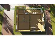 Каркасный дом под ключ ДК-13