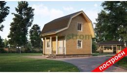 "Дом из бруса ""6х6 с мансардой"" ДБ-146"