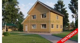 """Дом из бруса """"Княжево"""" ДБ-154"""