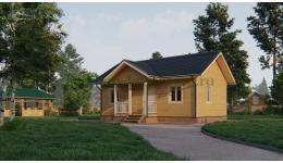 Дом из бруса ДБ-166