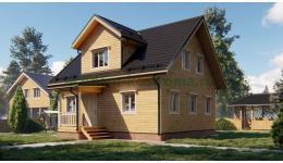 """Дом из бруса """"Середа"""" ДБ-183"""