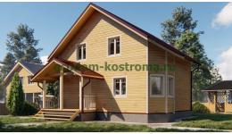 """Дом из бруса """"Жданово"""" ДБ-188"""