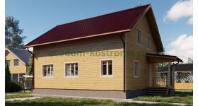 """Дом из бруса """"Кохма"""" ДБ-192"""