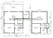 Дом из бруса ДБ-207