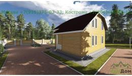 """Дом из бруса """"Электрогорск"""" ДБ-21"""