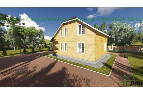 Каркасный дом под ключ ДК-21