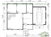 Каркасный дом под ключ ДК-3