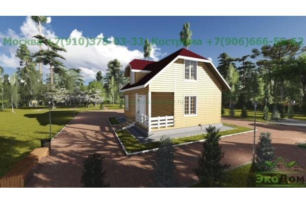 "Дом из бруса ""Красногорск"" ДБ-37"