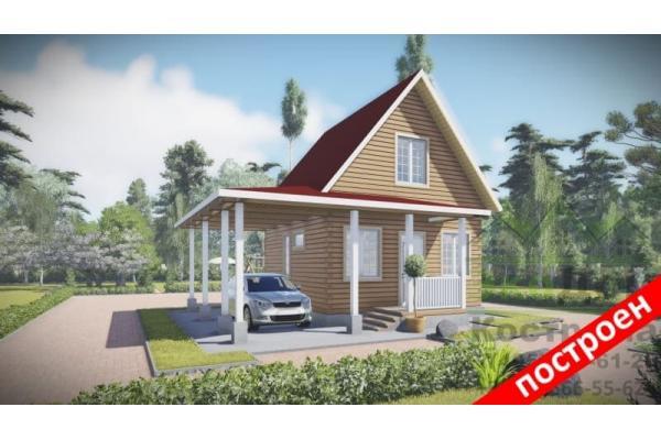 """Дом из бруса """"Коломна"""" ДБ-64"""