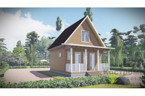 """Дом из бруса """"Зеленоград"""" ДБ-69"""