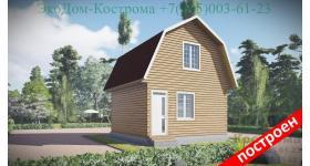 "Дом из бруса ""Мансарда"" ДБ-85"