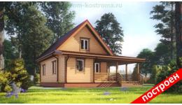 """Дом из бруса """"Солнечный"""" ДБ-96"""