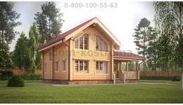 Дом из профилированного бруса из Костромы ДБ-99