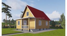 """Дом из профилированного бруса под ключ """"Кольчугино"""" ДБК-23"""