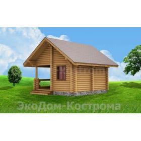 """Дом из оцилиндрованного бревна """"Шатура"""" ДО-1"""