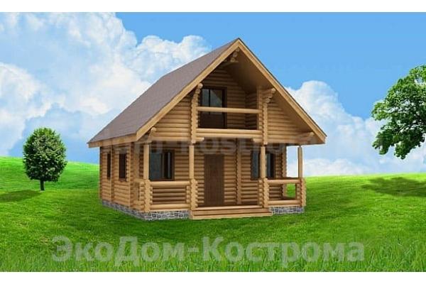 """Дом из оцилиндрованного бревна """"Калязин"""" ДО-11"""