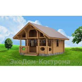"""Дом из оцилиндрованного бревна """"Егорьевск"""" ДО-2"""