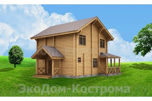 """Дом из оцилиндрованного бревна """"Приволжск"""" ДО-21"""