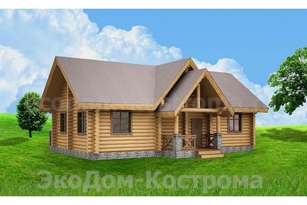 "Дом из оцилиндрованного бревна ""Гаврилов-Ям"" ДО-22"