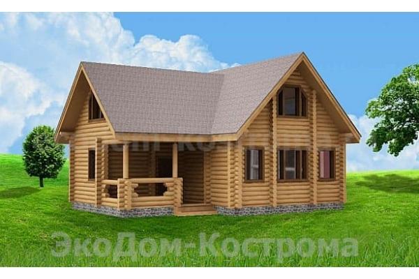 """Дом из оцилиндрованного бревна """"Воскресенск"""" ДО-28"""