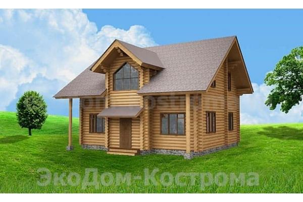 """Дом из оцилиндрованного бревна """"Куровское"""" ДО-29"""