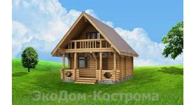"""Дом из оцилиндрованного бревна """"Иваново"""" ДО-7"""