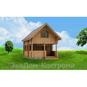 "Дом из оцилиндрованного бревна ""Пестово"" ДО-9"