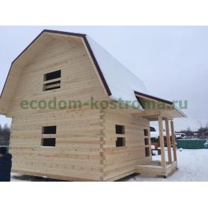 Дом 6х6 с мансардой из профилированного бруса 145х145 в Костроме