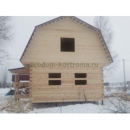 Дом из профилированного бруса 145х195мм камерной сушки
