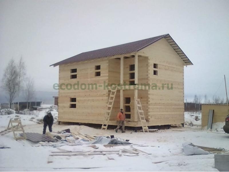 Дом из бруса естественной влажности в Нижегородской области