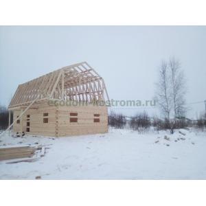 Дом из сухого профилированного бруса 145х195 в Нижегородской области с. Дивеево