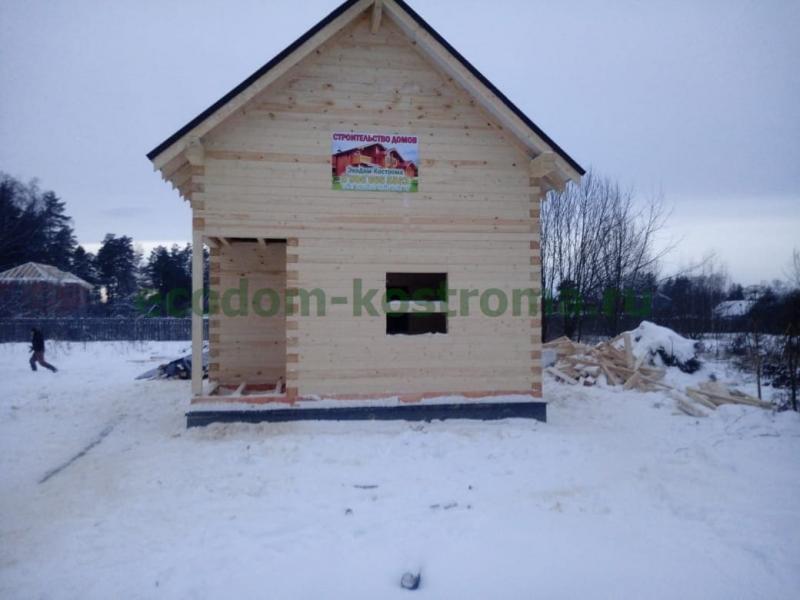 Дом из профилированного бруса 145х195мм в Ивановской области январь 2020 года