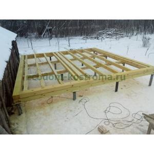 Дом из профилированного бруса 6х6 в Рязанской области январь 2020 года