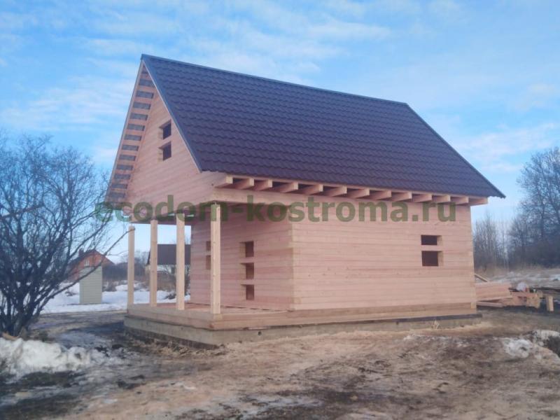 Дом из профилированного бруса в Липецкой области январь 2020