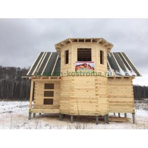 Дом из профилированного бруса в Домодедовском районе январь 2020