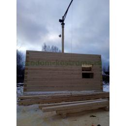 Дом из профилированного бруса 6х9 в Костромской области январь 2020