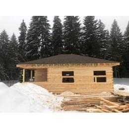 Дом из обрезного бруса 150х150мм Клинский район Московской области январь 2021