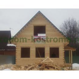 Дом из профилированного бруса 145х145мм Истринский район МО январь 2021
