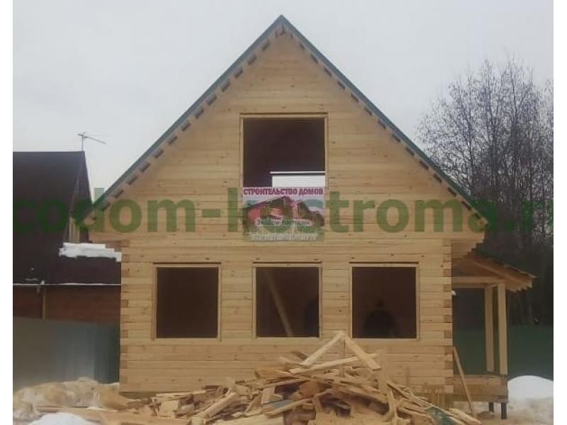 Дом из профилированного бруса 145х145мм Истринский район Московской области