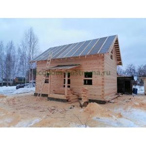 Дом из профилированного бруса Владимирская область январь 2021