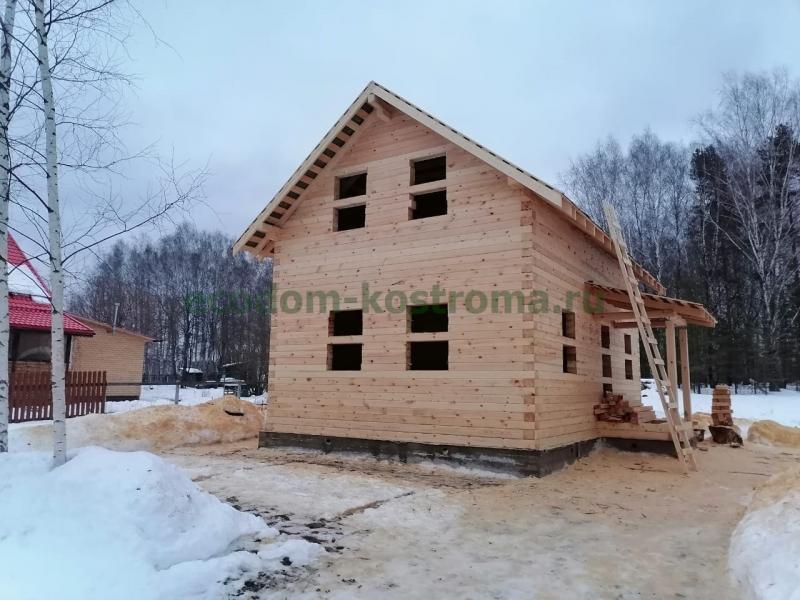 Дом из профилированного бруса 145х190мм Владимирская область январь 2021