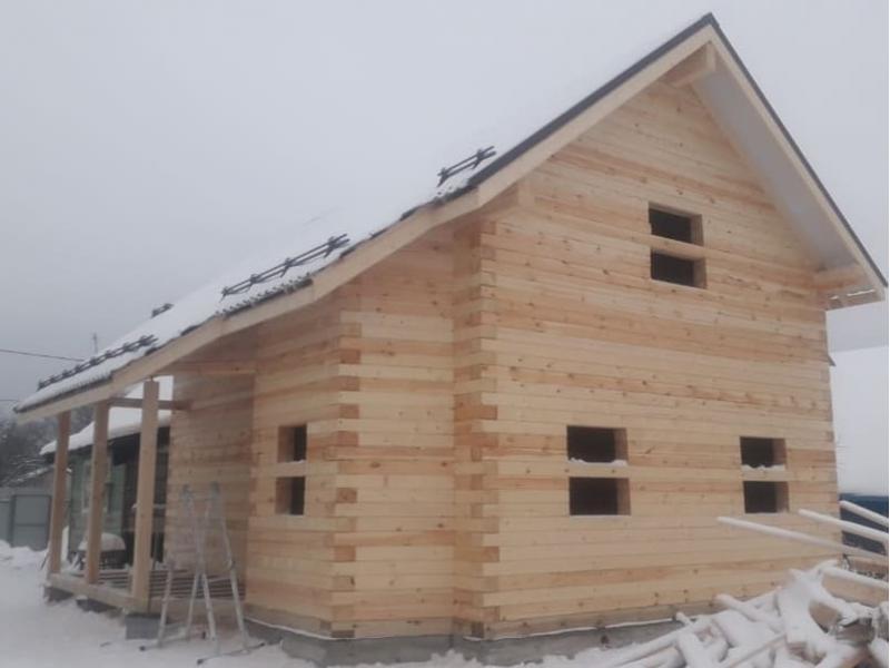 Дом из профилированного бруса в Егорьевском районе январь 2021