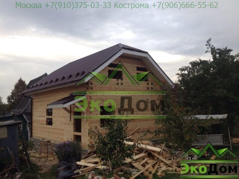 Дом из бруса Ступинский р-он Московская область д. Шелково