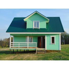 """Дом из профилированного бруса под ключ в коттеджном поселке """"Солнечный"""""""