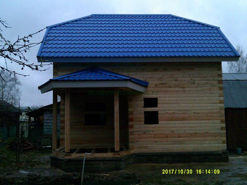 Дом-Баня из профилированного бруса 145х195 в Московской обл г. Электрогорск