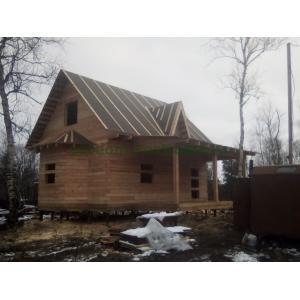 Дом из бруса под усадку в Мурманской области Кольский район