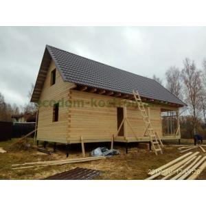 Дом из профилированного бруса камерной сушки построен в Костромской области д. Боровиково в октябре 2019г