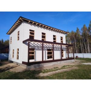 Дом из профилированного бруса 145х190мм камерной сушки в Тульской области октябрь 2020
