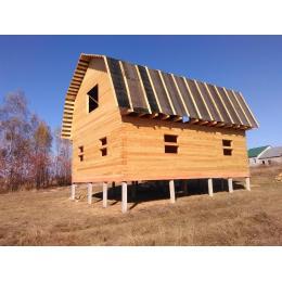 Дом из профилированного бруса в Липецкой области октябрь 2020 года